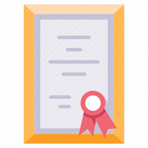 achievement, award, certificate, diploma, document, honor, success icon