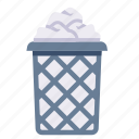 basket, bin, garbage, paper, recycle, trash