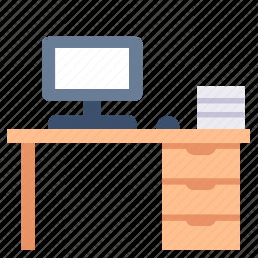 Computer, desk, desktop, office, table, work, workspace icon - Download on Iconfinder