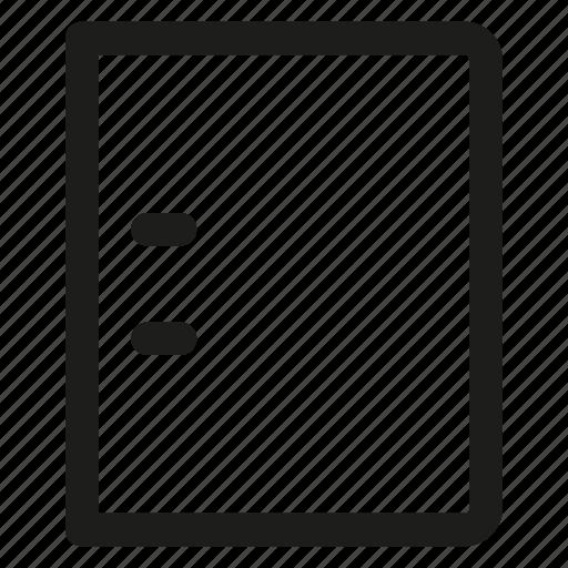 binder, ring icon