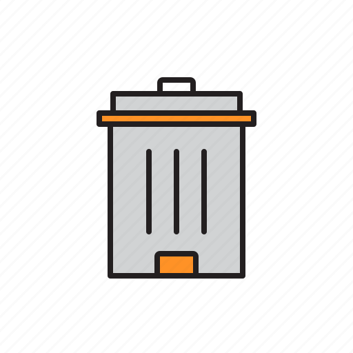 basket, bin, container, dustbin, recycle, waste icon