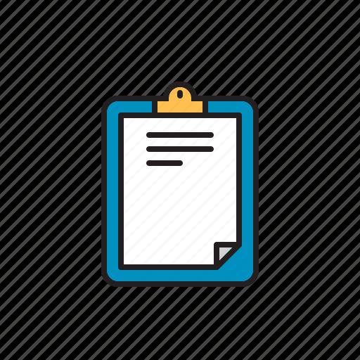 board, clip, clipboard, document, paper icon