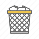 bin, can, garbage, office, paper, trash, trashcan icon