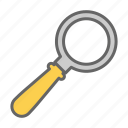 close, glass, lens, loupe, magnifier, office, zoom icon