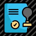 rubber, stamp, document, repotr