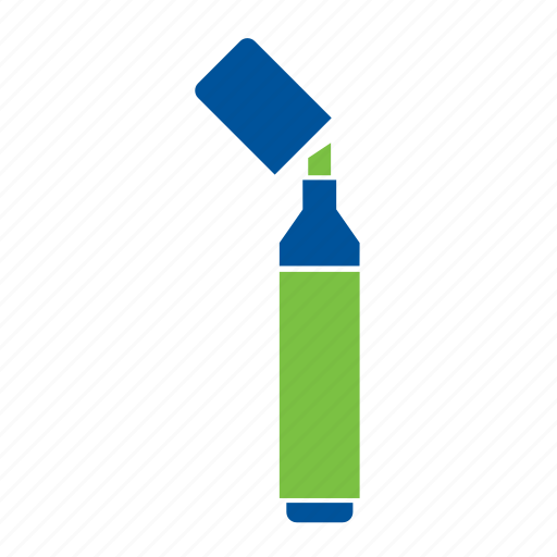 highlighter, office, school, sharpie, stationery, supplies, supply icon