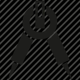 compas, divider, tool icon
