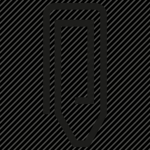attach, attachment, clip, paper clip icon