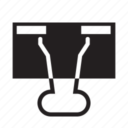 binder clip, clip, paper clip, stationery icon