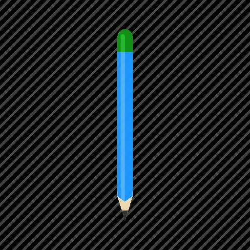 blue pencil, draw, marker, pencil icon