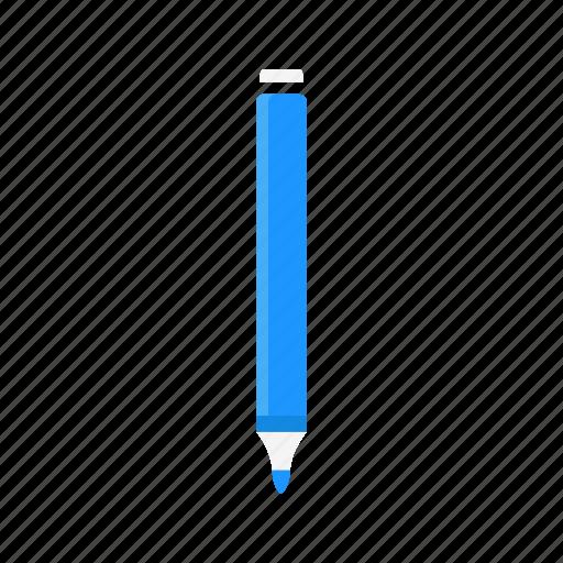 draw, marker, pen, plue pen icon