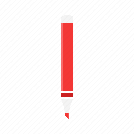 draw, marker, red pen, write icon