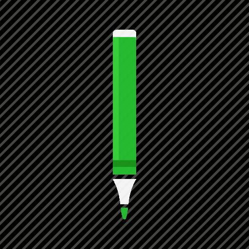 draw, green pen, marker, pen icon