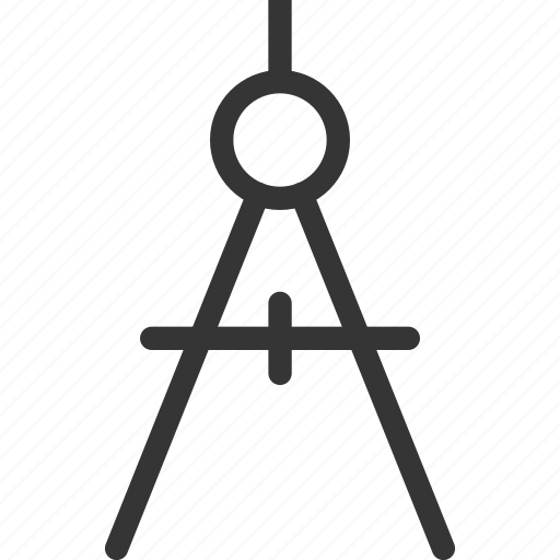 compasses, office, stationery, tool, work icon