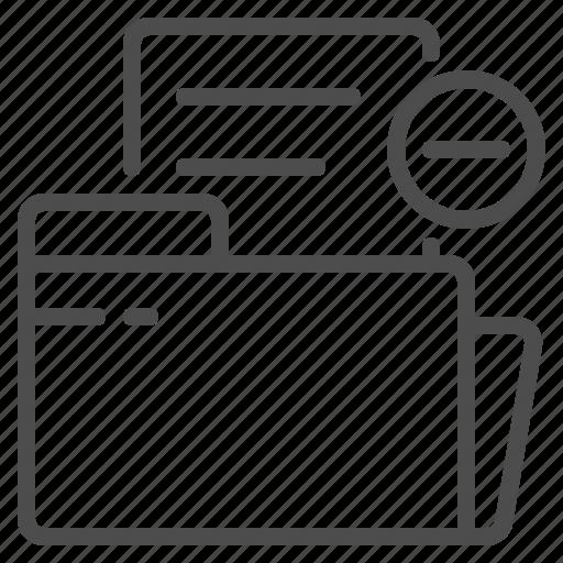 delete, document, foder, minus, paper, remove, sheet icon