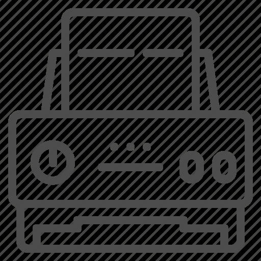 devices, hardware, printer, printing, technology icon