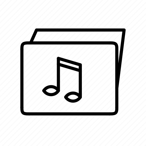folder, multimedia, music, music folder icon