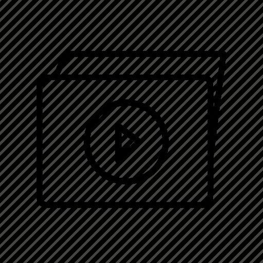 films, folder, multimedia, video, video folder, videos icon