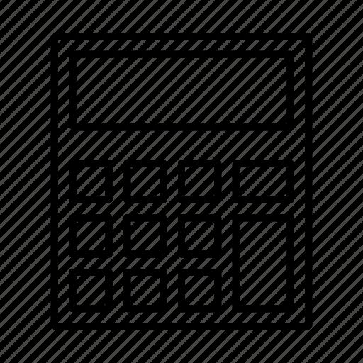 calculator, hardware, math operations, operations icon
