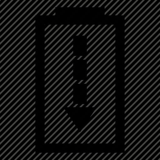 Battery, discharging, uncharging icon - Download on Iconfinder