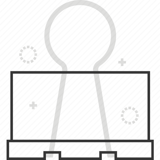 clip, metal, office, paper, stationery icon