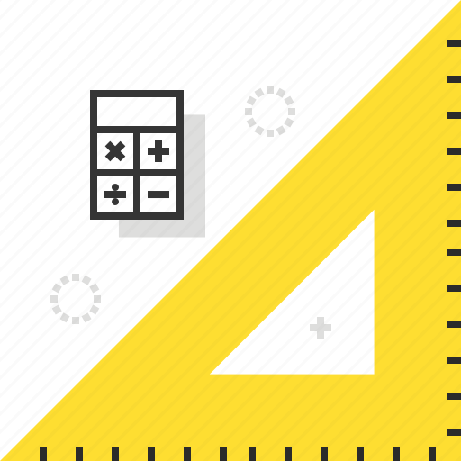 measurement, ruler, triangle icon