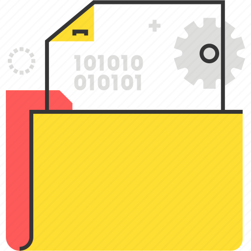 Data, document, file, folder, gear icon - Download on Iconfinder