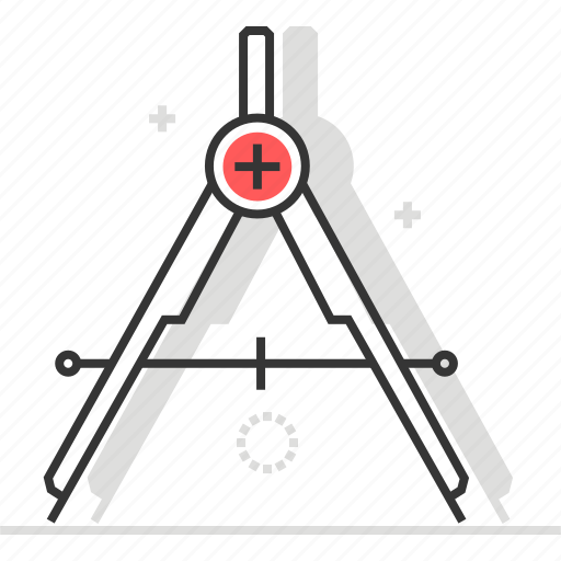 compasses, draw, engineering, office, technical, tool icon