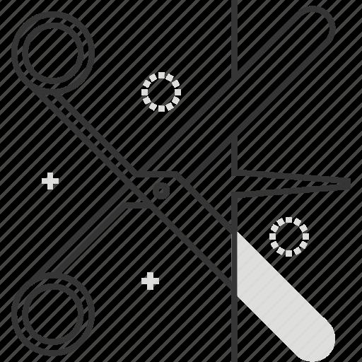 cut, office, paper, scissors, sharp, tool icon