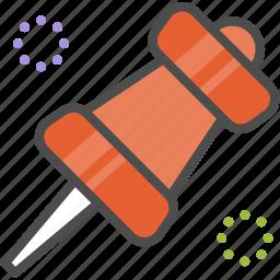 marker, pin icon