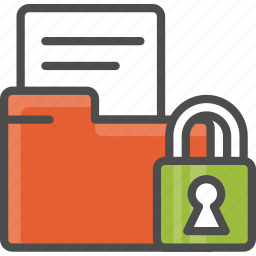 document, file, foder, lock, page, security, sheet icon