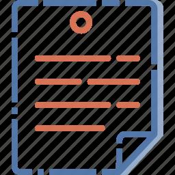 document, peper icon