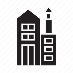 building, city, condominium, office, real estate, residence, tower icon