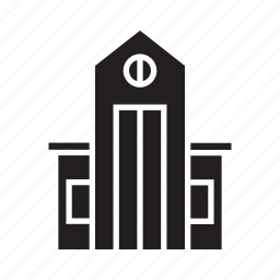 building, home, house, office, real estate, school, tower icon