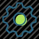 cog, gear, machinery, phisics icon