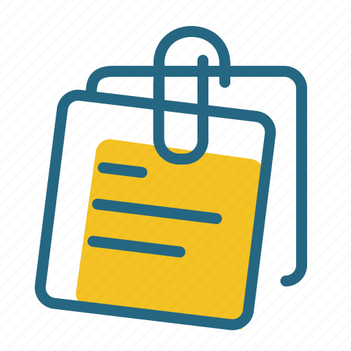 clip, notes, office, stationery icon