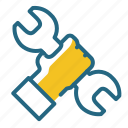 mechanic, repair, tool, wrench icon