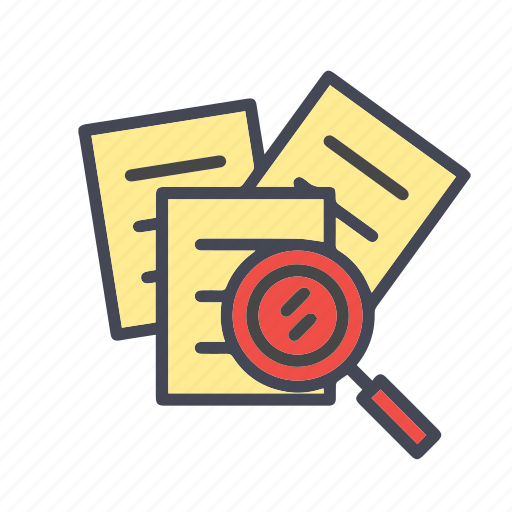 document, documents, extension, file, find, paper, search, search document, search file icon