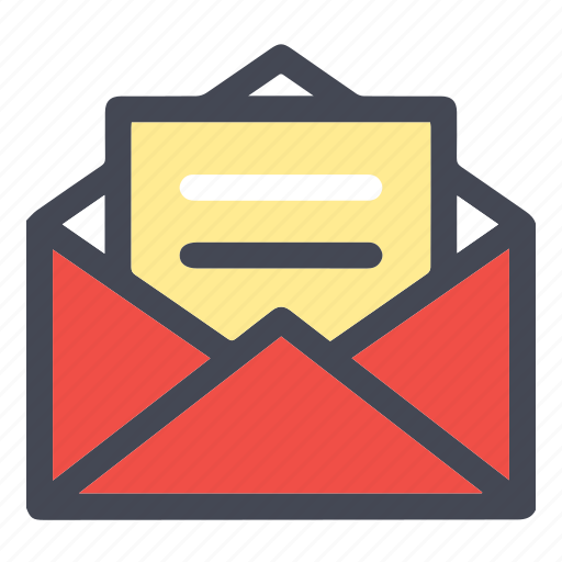 document, email, extension, format, inbox, mail, newsletter, open inbox, open mail, sign, symbolism icon