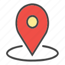 around location, check location, current location, location, map pin, pin icon