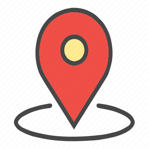 around location, check location, current location, location, map pin, marker, pin, place, point icon