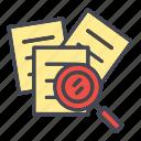 file, search, search document, search file icon