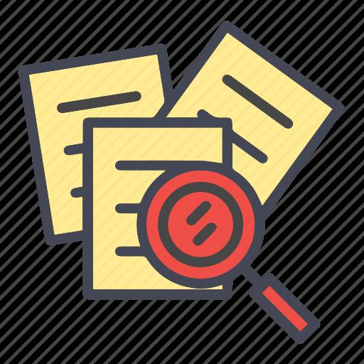 file, find, folder, page, search, search document, search file icon