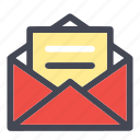 email, heart, inbox, mail, newsletter, open inbox, open mail, sign icon