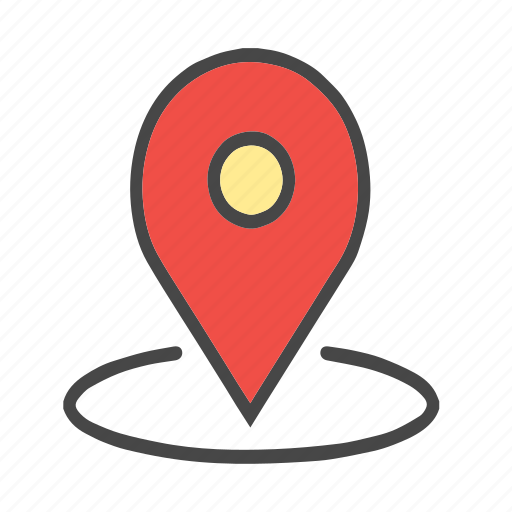 around location, arrow, check location, current location, download, location, map pin, pin, pointer icon