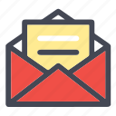 email, inbox, mail, newsletter, open inbox, open mail, sign icon