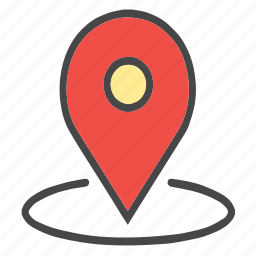 around location, check location, current location, flag, gps, location, map pin, nation, pin, place, pointer, printer icon