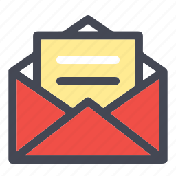 arrow, email, inbox, mail, newsletter, open inbox, open mail, send, text icon