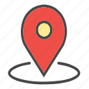 around location, arrow, check location, current location, gps, location, locator, map pin, pin icon