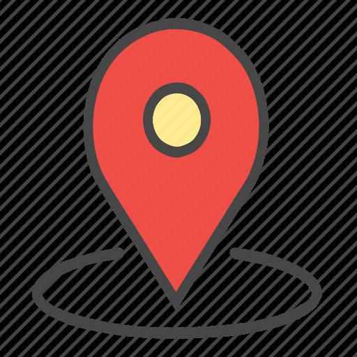 around location, arrow, check location, current location, gps, location, locator, map pin, pin icon